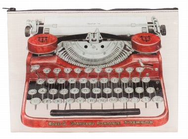 Jumbo Zipper Tasche - Typewriter