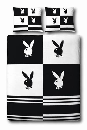 playboy bettw sche blocks schwarz weiss merchandise pr sentiert von klang und kleid. Black Bedroom Furniture Sets. Home Design Ideas