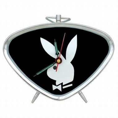 Playboy Triangel Wecker Schwarz
