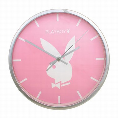 Playboy Wanduhr Classic Pink