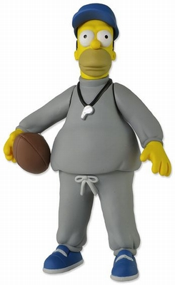 The Simpsons 25th Anniversary Actionfigur Coach Homer