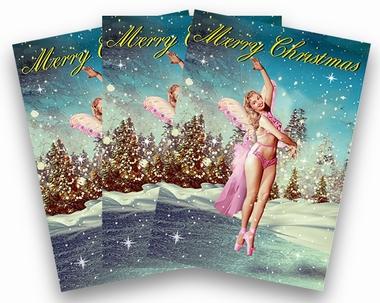 Weihnachtskarten Max Hernn Bikini Engel