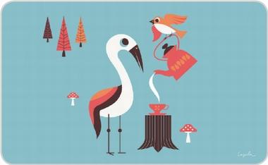Frühstücksbrettchen - Ingela - Bird Party