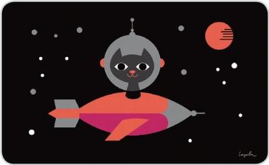 Frühstücksbrettchen - Ingela - Space Cat