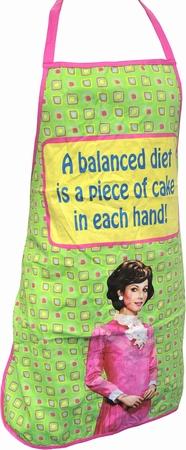 Küchenschürze Retro - A Balanced Diet