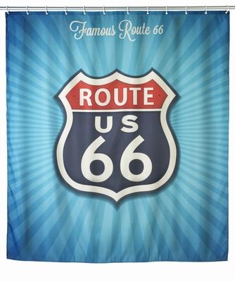 Anti-Schimmel Duschvorhang - Vintage Route 66
