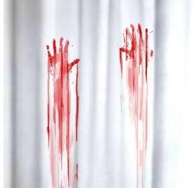 Duschvorhang blutbad blutige h nde klang und kleid for Coole duschvorha nge