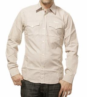 Albin - brown Hemd