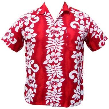 Hawaii Hemd Classic Flower - rot
