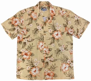 Original Hawaiihemd - Hibiscus Garden - Peach - Paradise Found