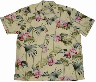 Original Hawaiihemd - Orchid Bamboo Yellow - Paradise Found