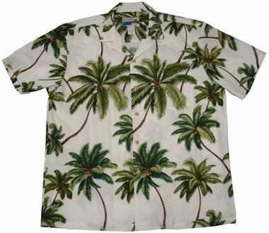 Original Hawaiihemd - Wailea Palms Weiss - Waimea Casual