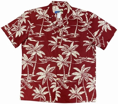 Original Hawaiihemd - Waimea Canoe - Rot - Waimea Casual