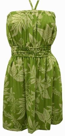Original Hawaiikleid - Ladies Sundress - Tiare - Olive