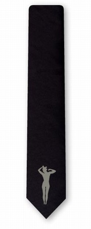 Krawatte Frau - schwarz, schmal