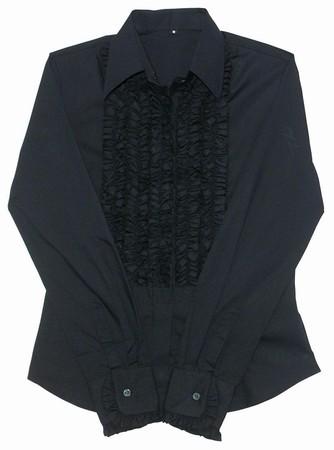 Rüschenhemd Ladies - schwarz schwarz