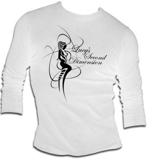 Lucy´s Second dimension - weiss longsleeve - shirt