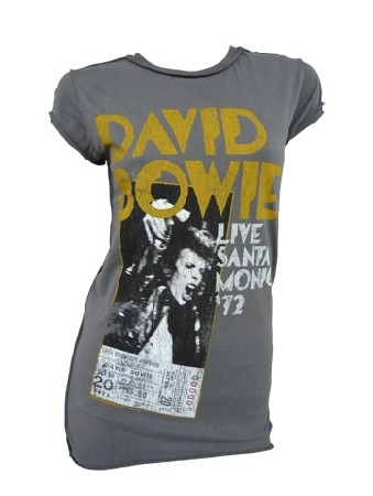 Amplified - David Bowie Shirt - Santa Monica 72 - Girl