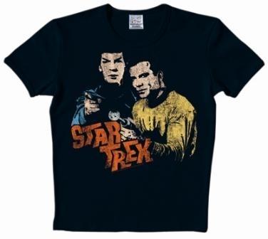 Logoshirt - Star Trek Shirt  - Spock & Kirk - black
