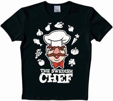 Logoshirt - Muppets - Swedish Chef Shirt - Schwarz