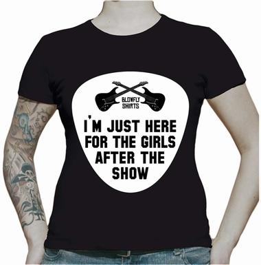 Just here for the Girls - Black Girl shirt