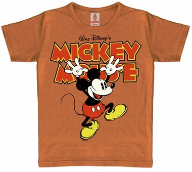 Kids Shirt - Mickey Hands Up - Vintage Kakao