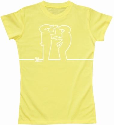 La Linea Girl Shirt - Draw Me - gelb
