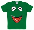 KIDS SHIRT - MUPPETS - FACES KERMIT - GR�N