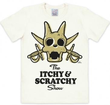 Logoshirt - Itchy und Scratchy Weiss - Shirt