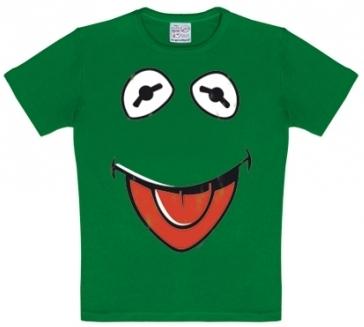 Kids Shirt - Muppets - Faces Kermit - Grün