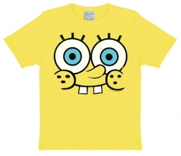 Kids Shirt - Spongebob Face - Gelb