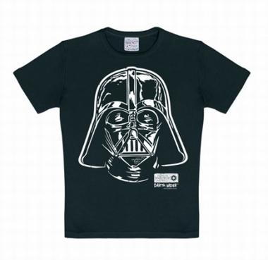 Kids Shirt - Star Wars - Darth Vader - Portrait Schwarz