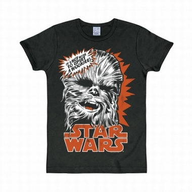 Logoshirt - Star Wars Shirt Chewbacca Schwarz