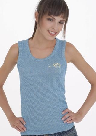 Sarah blue tank top