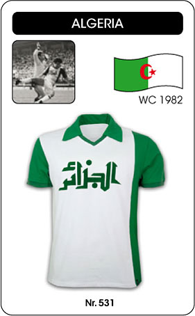 Algerien Retro Trikot Weltmeisterschaft 1982