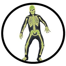 Skelett Kostüm - Leuchtet im Dunkeln - Klicken für grössere Ansicht