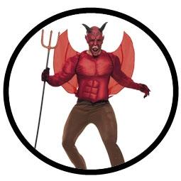 Teufel Kostüm - Muskelpanzer - Deluxe - Klicken für grössere Ansicht