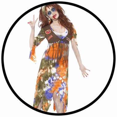 Zombie Hippie Lady Kostüm - Klicken für grössere Ansicht