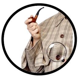 Sherlock Holmes Pfeife und Lupe Kit - Klicken für grössere Ansicht