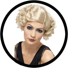 20er Jahre Perücke blond - Klicken für grössere Ansicht
