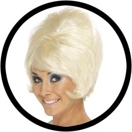 60er Jahre Beehive Perücke Blond - Klicken für grössere Ansicht
