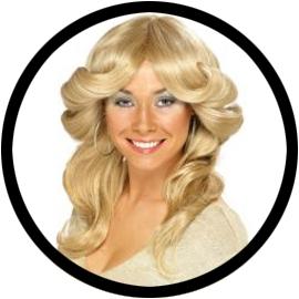 70er Jahre Föhnfrisur Perücke Blond - Klicken für grössere Ansicht