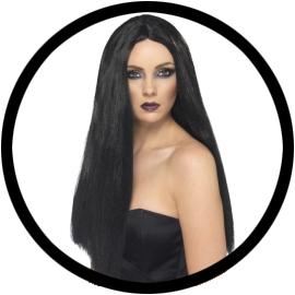 Hexen perücke schwarz lang - Klicken für grössere Ansicht