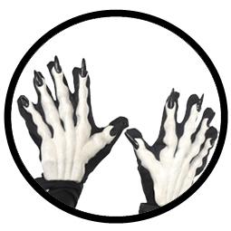 Horror Monster Hände Handschuhe  - Klicken für grössere Ansicht