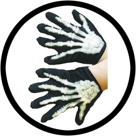 Skelett Hände Handschuhe Kinder - Klicken für grössere Ansicht