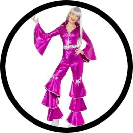 Disco Lady Dancing Dream Pink 70er Jahre - Klicken für grössere Ansicht