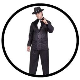 Mafia Kostüm schwarz - Nadelstreifen - Klicken für grössere Ansicht