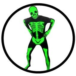 Morphsuit - Leucht Skelett - Ganzkörperanzug - Glow in the dark - Klicken für grössere Ansicht