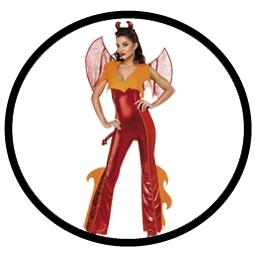 Teufelinnen Flammen Kostüm - Rot Damen  - Klicken für grössere Ansicht