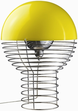 Verner Panton Lampe - Wire - Gelb